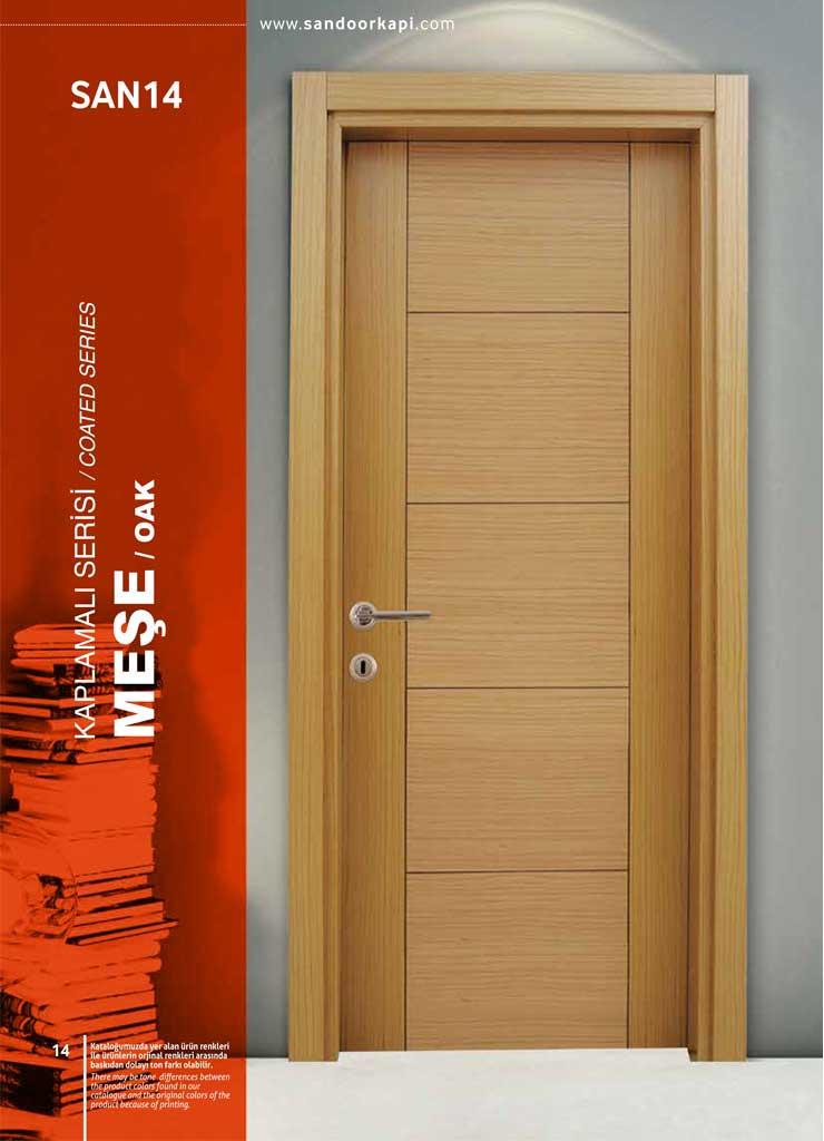 Meşe Kaplamalı Kapı