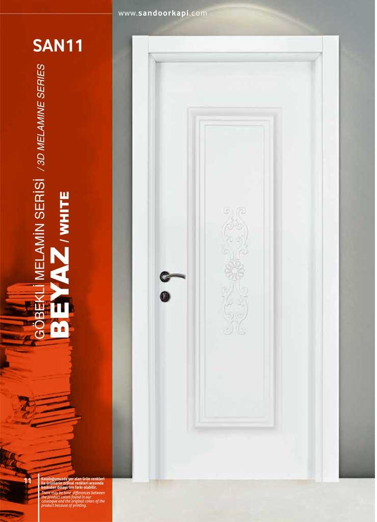 Beyaz Göbekli Melamin Kapı